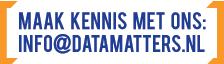 Maak kennis met Data Matters: info@datamatters.nl